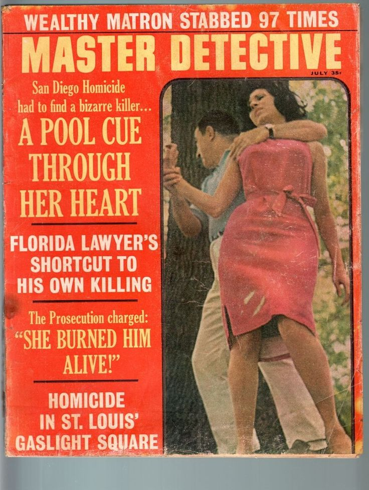 master detective jul 1965 fr g murder with pool cue through heart true fr g ebay detective. Black Bedroom Furniture Sets. Home Design Ideas