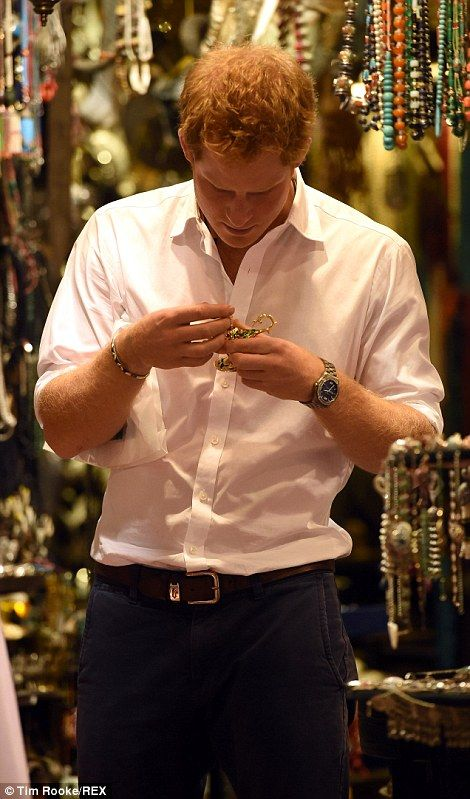 Prince Harry enjoys a trip to a Muscat souq #dailymail