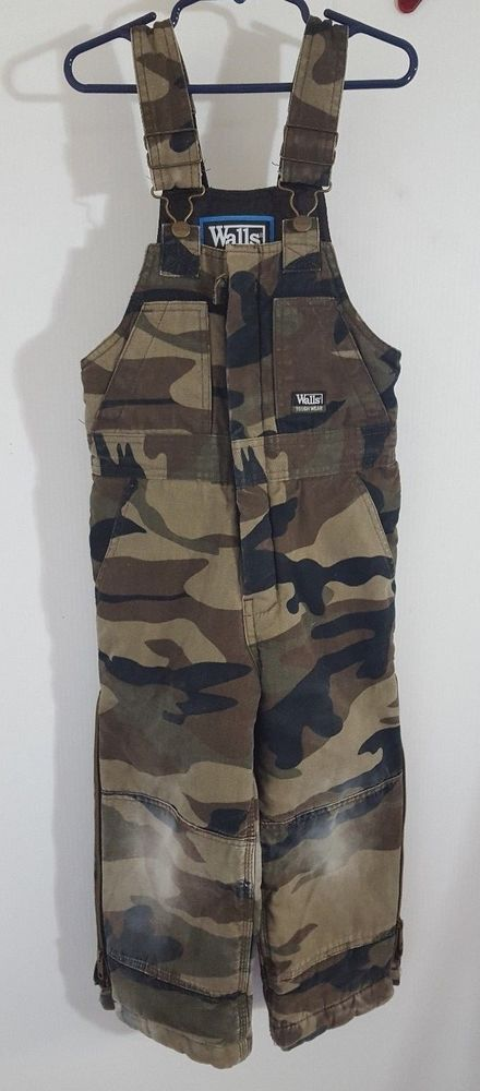 ab69f10fee77c Walls Tough Wear Bib Overalls Youth Sz 6 Camo Insulated Kids Grow Legs Zip  9898 #Walls #BibOveralls #Everyday
