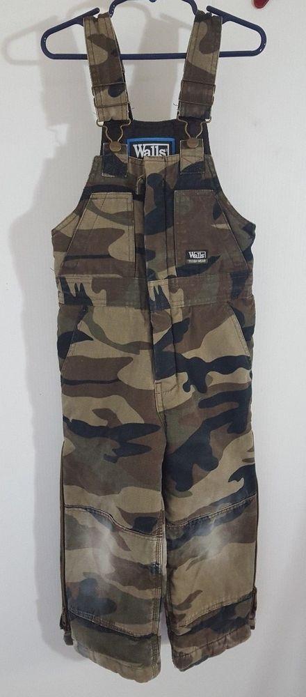 walls tough wear bib overalls youth sz 6 camo insulated on walls camo coveralls insulated id=44433