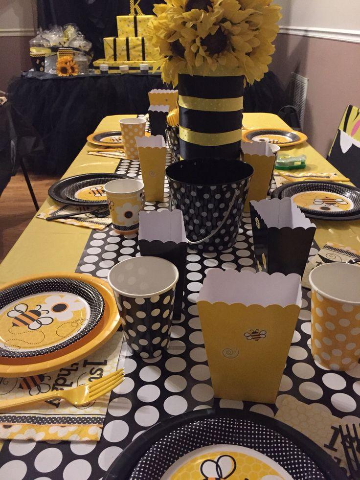 Happy Bee Birthday Table Decorations