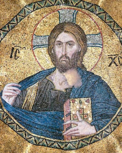 Ο Χριστός Παντοκράτορας (ψηφιδωτό στον τρούλο του ναού της Παμμακαρίστου, Κωνσταντινούπολη, 1310).