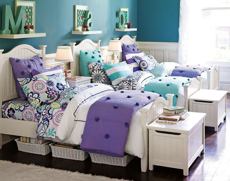 Bedroom Ideas For Teenage Girls Blue best 25+ girls shared bedrooms ideas on pinterest | shared room