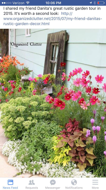 My Friend Danita\'s Rustic Garden Decor | Rustic garden decor, Rustic ...