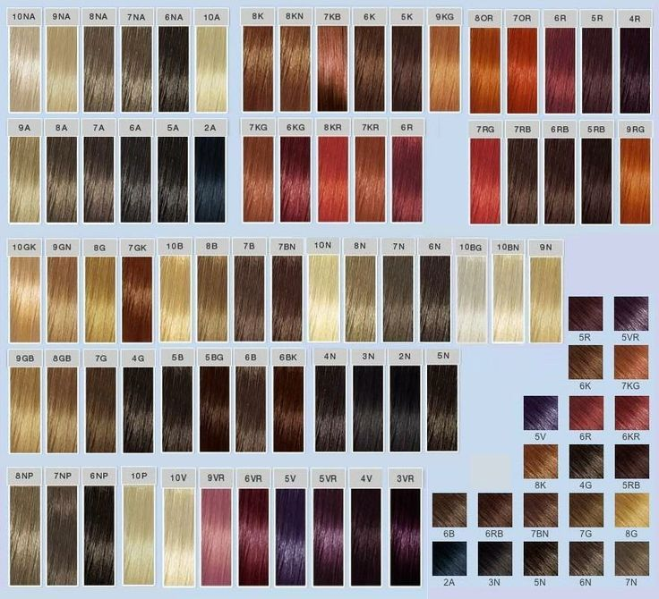 Goldwell Colour Chart 2016 An overview of the color and number of hair dyes. Goldwell's numbers dye a little different from other hair dye.Before dyeing your hair, I suggest you look at the color...