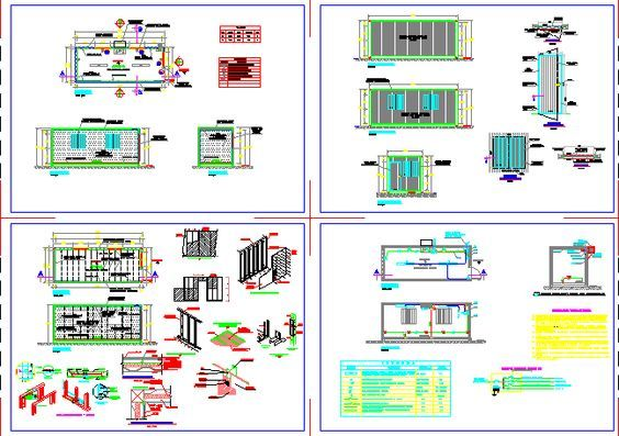 Marine container 20 ft - office (dwgAutocad drawing)
