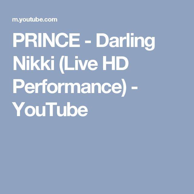 PRINCE - Darling Nikki (Live HD Performance) - YouTube