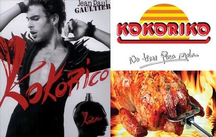 """Nuevo perfume de Gaultier """"Kokorico"""" (francés para el grito de un gallo) podría ser el perfume perfecto para el """"engreído"""" macho, pero en Colombia, Miami y otras zonas  latinas, """"Kokoriko"""" huele más a pollo asado.    Sera que como dice una amiga... te lo regalan por comprar un menu familiar o infantil!!"""