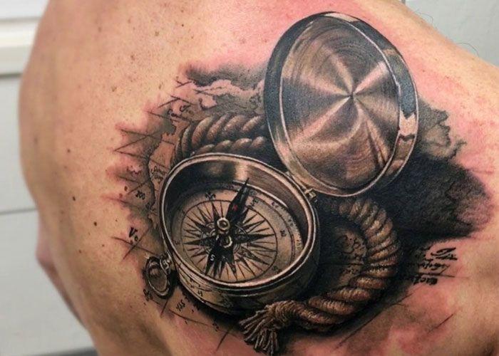 125 Best Compass Tattoos For Men Compass Tattoo Tattoos For