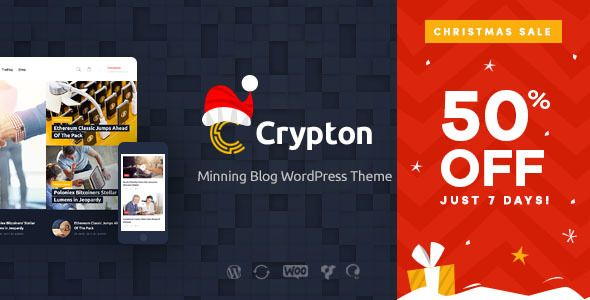 crypton cryptocurrency & mining wp theme nulled