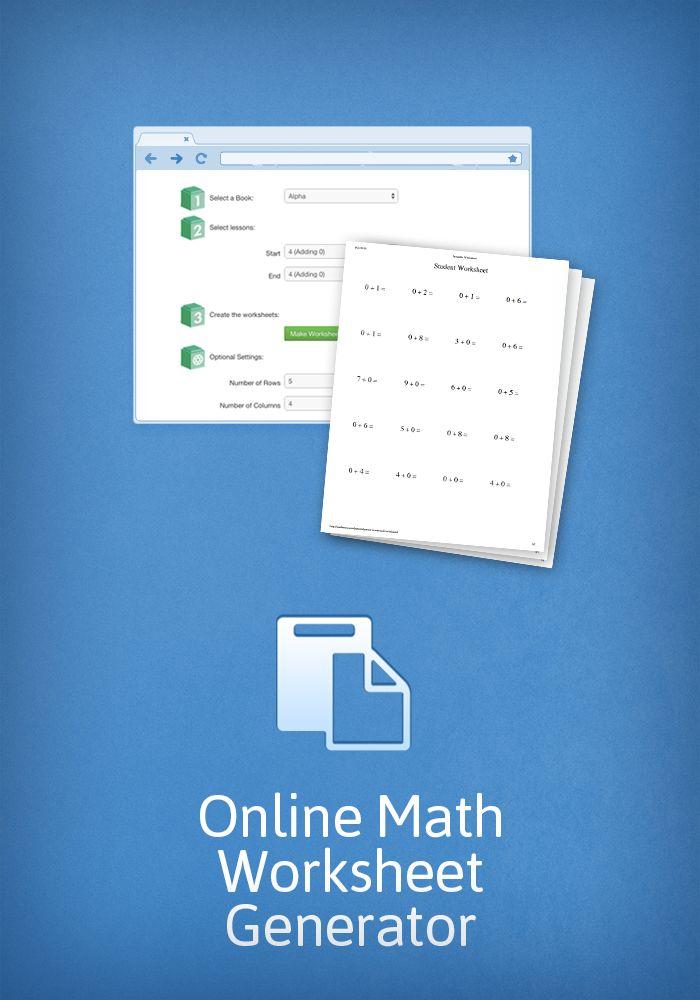 math worksheet : 1000 images about math on pinterest  math games addition and  : Math U See Worksheet Generator