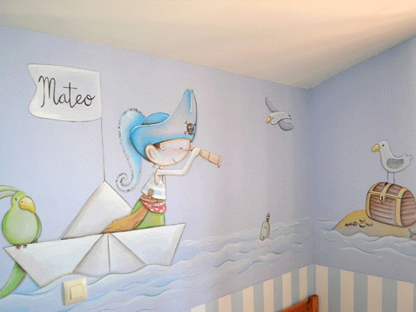 17 best images about arte en paredes on pinterest amigos - Habitaciones de bebe ...