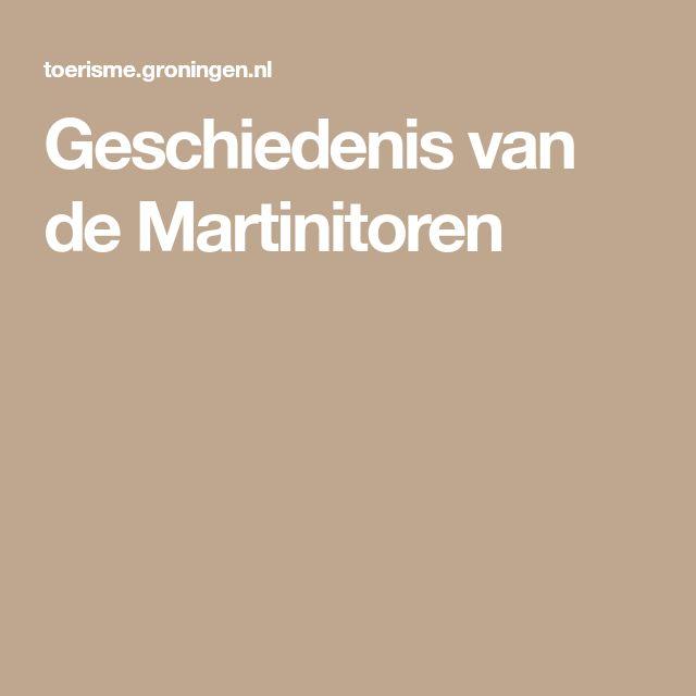 Geschiedenis van de Martinitoren