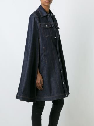 Givenchy dark denim cape