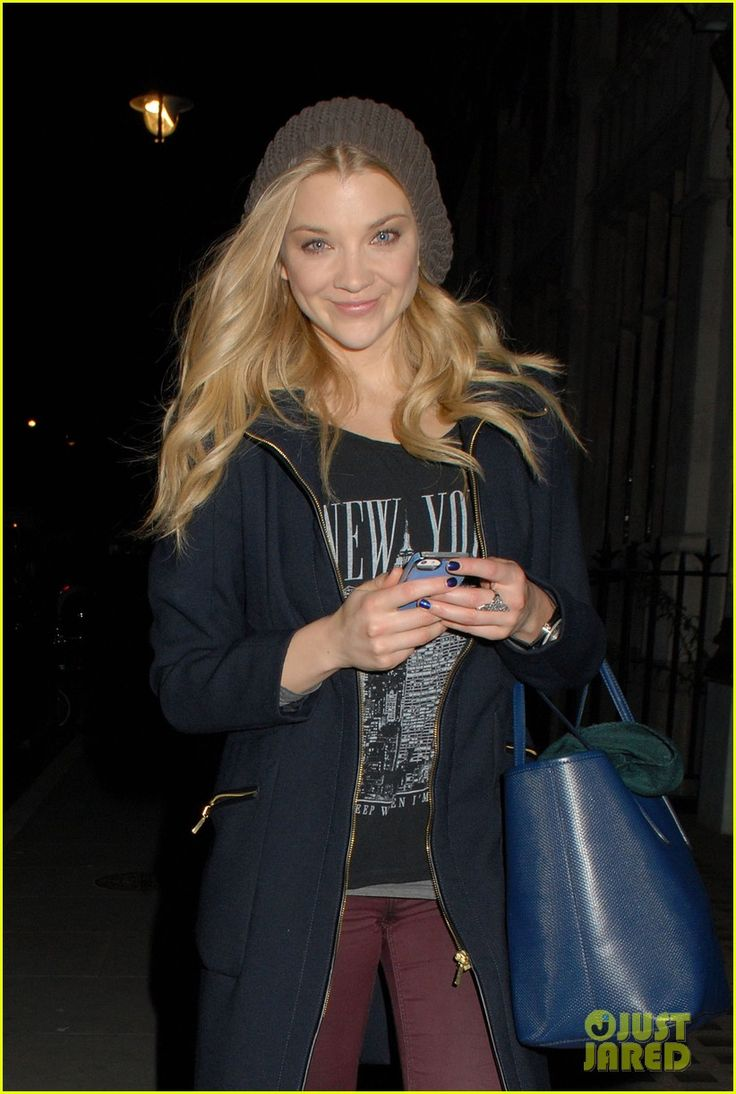 Natalie Dormer flashes her cute smile as she leaves celeb hotspot Chiltern Firehouse on Sunday evening (October 26) in London, England.