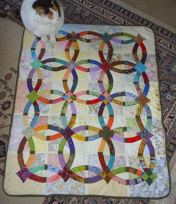 Bali star double wedding ring quilt pattern