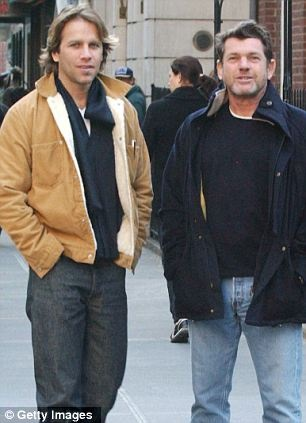 Rolling Stone magazine Jann Wenner (R) and his boyfriend, designer Matt Nye,