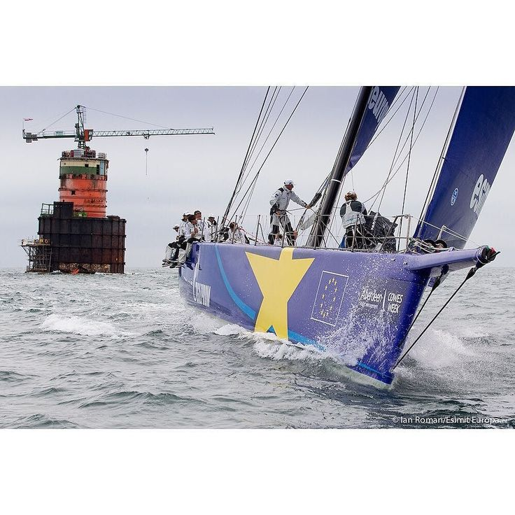 Esimit Sailing Team leaves the Nab Tower during the Cowes Week Big Boat Series in 2013  Photo credit: @ianroman  #Esimit #EsimitEuropa #EsimitEuropa2 #EsimitProject #EuropeanEnergy #sailboat #sailing #sailingstagram #sail #racing #yachting #supermaxi #maxiyacht #sport #Medot #cowesweek by esimiteuropa