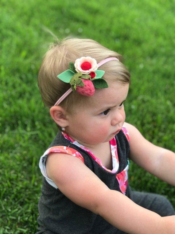 felt flower crown flower headband baby flower crown for babies flower headband pink and white flower headband nylon valentine headband