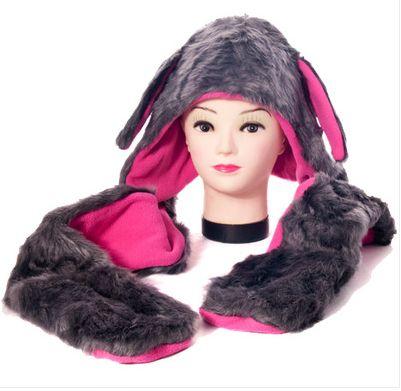 AnimalHeadGear.com - Grey/Pink Bunny Ears Hat (WorldWide Shipping) , $18.00 (http://www.animalheadgear.com/grey-pink-bunny-ears-hat-worldwide-shipping/)
