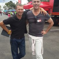 Myself with Justin Bonello at the Johannesburg auditions for the Ultimate Braai Master