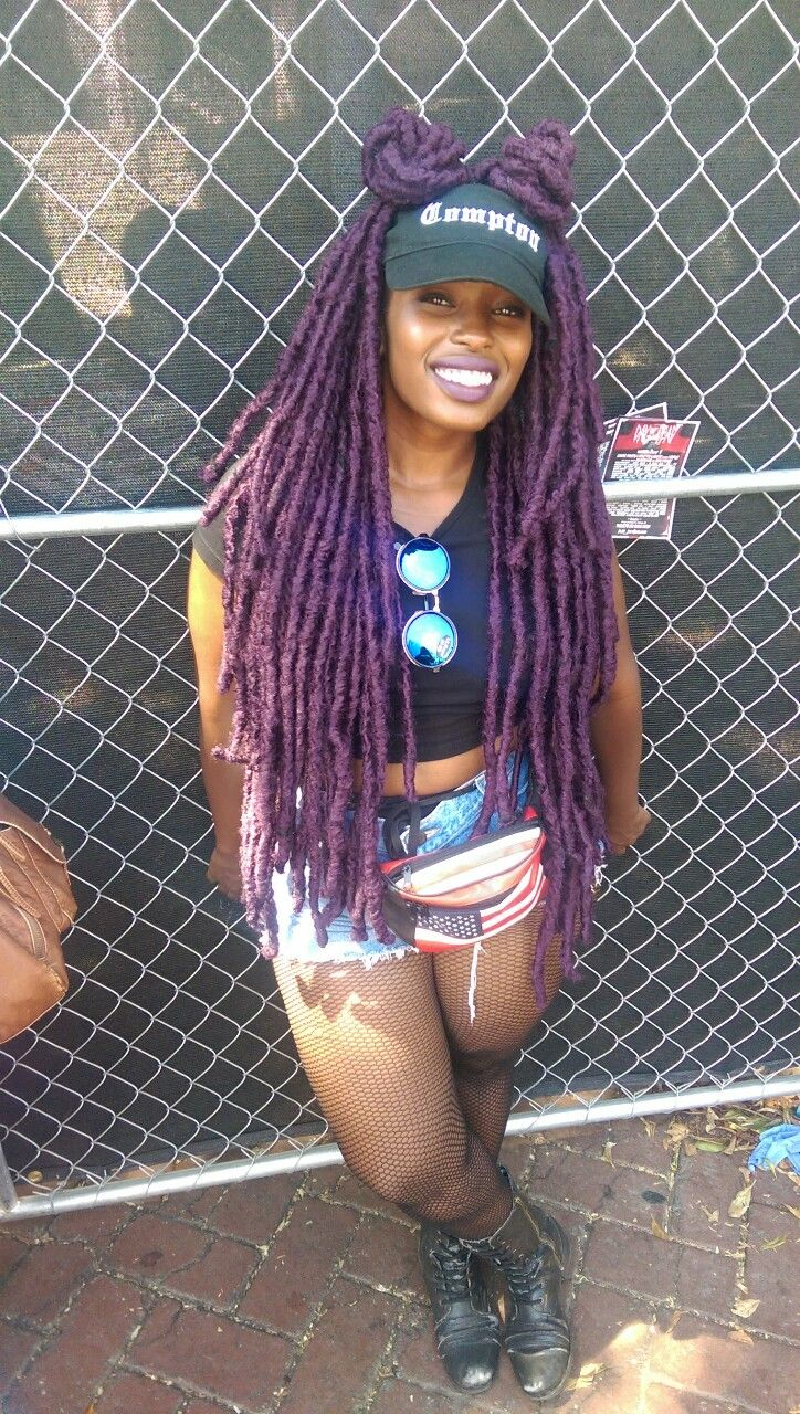 Smangieee Faux Locs And My Compton Visor I Am
