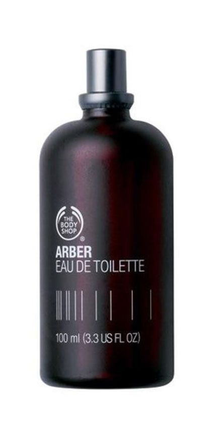 Arber Eau De Toilette 100ml from The Body Shop. Fragrance with woody scent inspired by nature. Enriched extract of citrus and mint and longer lasting formula. Eau De Toilette with black color on bottle. Packaging spray with volume 100 ml. http://www.zocko.com/z/JJVFi