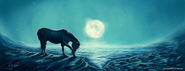 'Moonlight Serenity'  This became a framed, high quality digital art print.