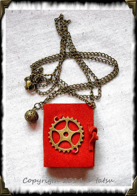Little pocketbook pendant. HAND MADE Steampunk. by GuildCosel