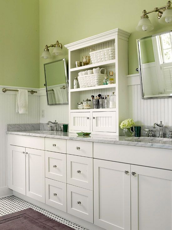 38 best green bathrooms images on pinterest bathroom for Green bathroom paint colors