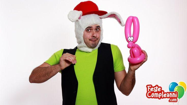 Balloon Rabbit, How to twist a Rabbit with Balloon art, for kids party. Palloncini per bambini, Animali con palloncini, Balloon animal. Realizziamo un nuovo animaletto con i palloncini modellabili per sculture. Con un solo Palloncino riusciremo a costruire un simpatico coniglietto da regalare a i bambini durante le feste di compleanno.