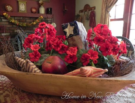 4th of Jul centerpiece  Independence Day  Dough bowl