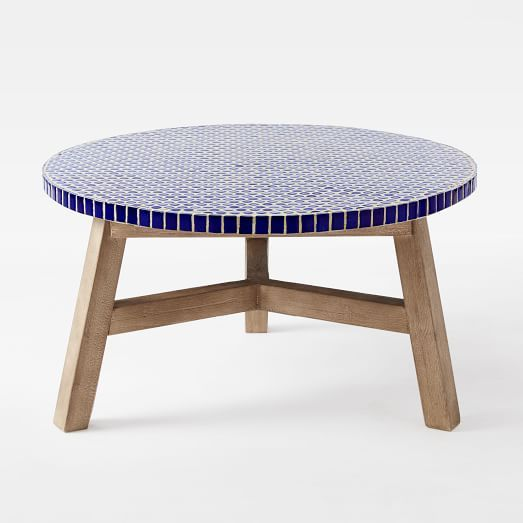 Mosaic Tiled Coffee Table   Blue Penny