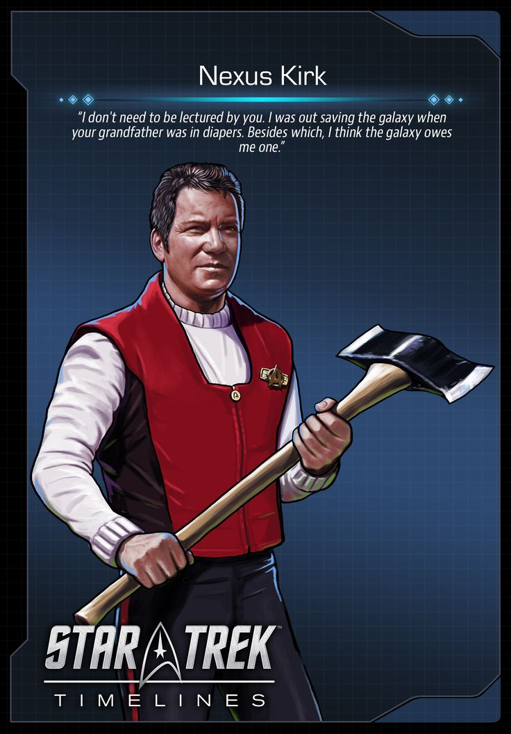 Kirk from the feature film Star Trek: Generations