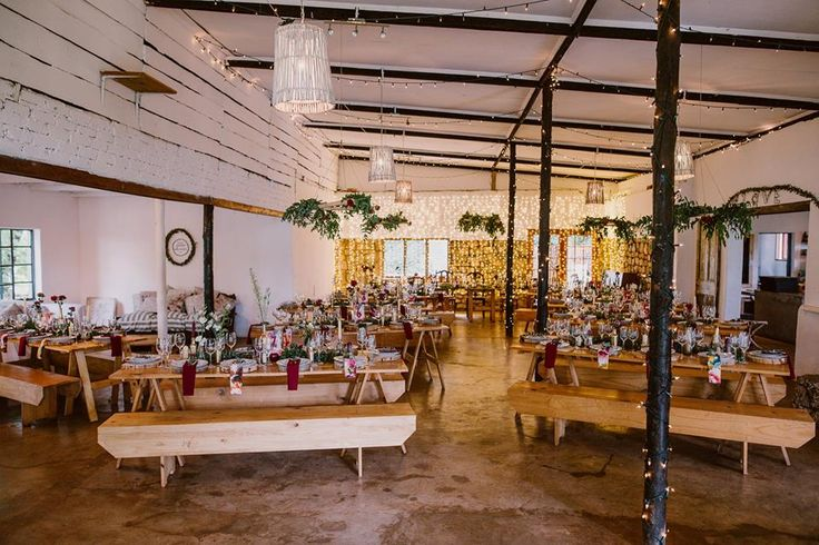 Forest wedding in Magoebaskloof, Limpopo, South Africa. Interior at Mina's Art Cafe and Venue #VisitMagoebaskloof