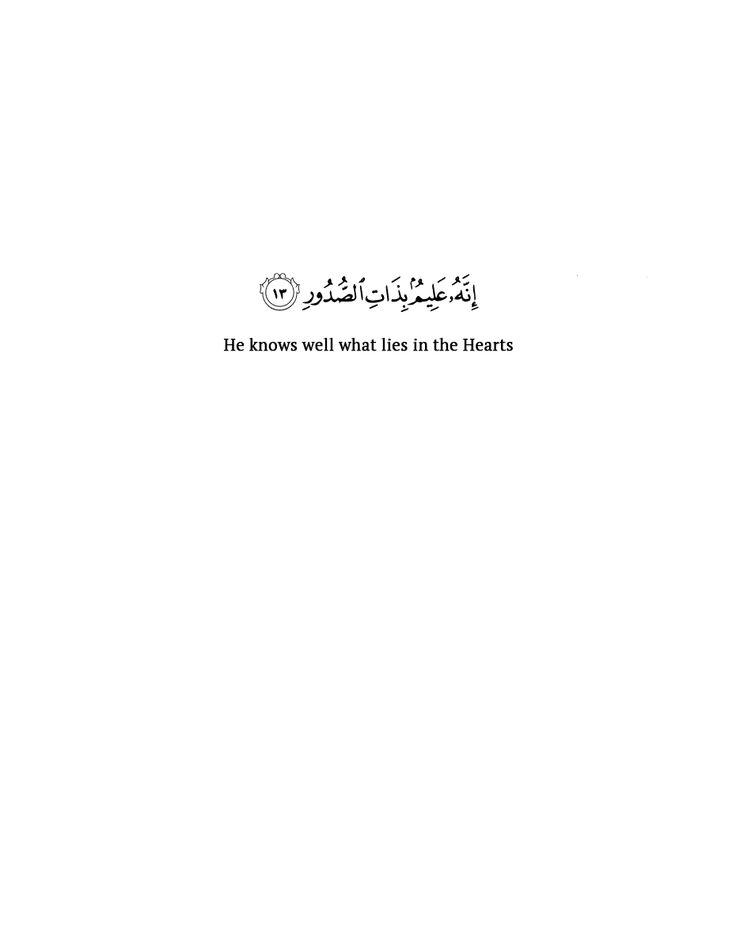 Surat Al-Mulk, Verse 13.