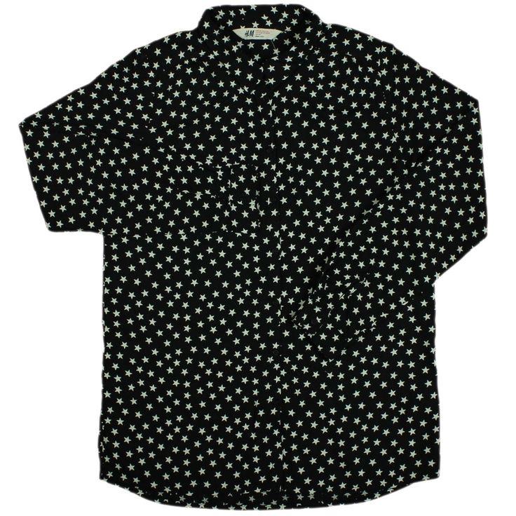 H&M csillag mintás fekete ing | Felső, pulóver - Gyerek - Lány