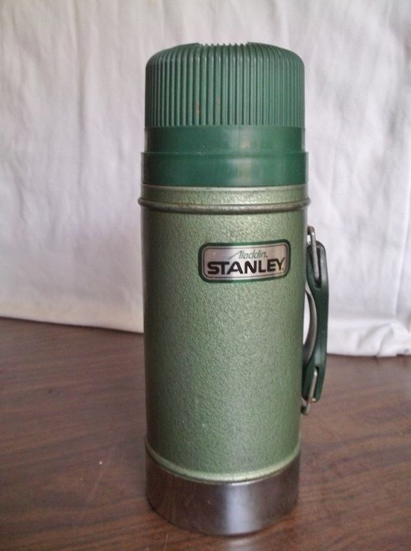 Nice ALADDIN Stanley Steel Thermos, Wide Mouth Thermal Vacuum Bottle with Handle #AladdinStanley