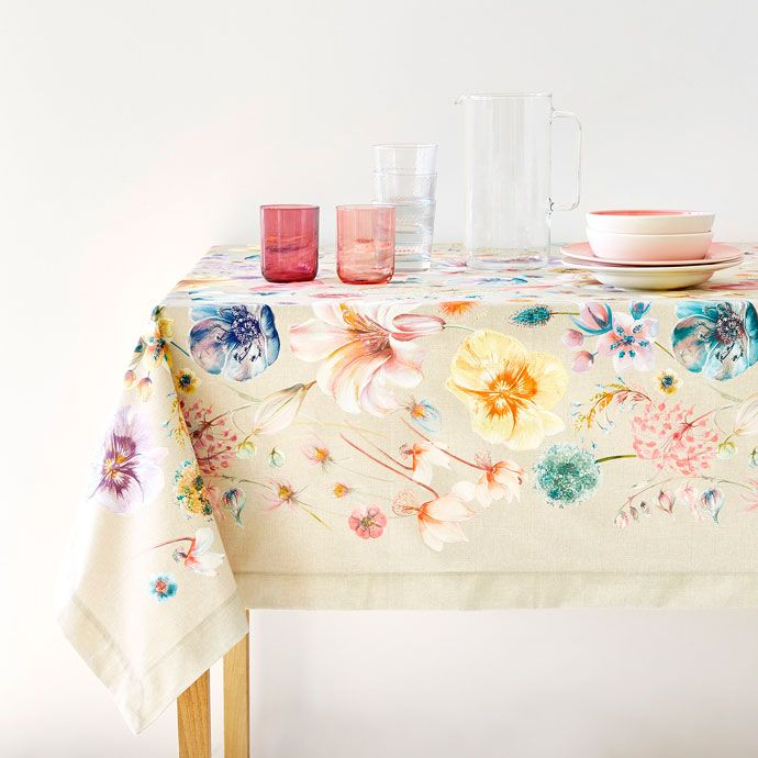 DIGITAL POPPY PRINT TABLECLOTH - Tablecloths and Napkins - Tableware | Zara Home United Kingdom