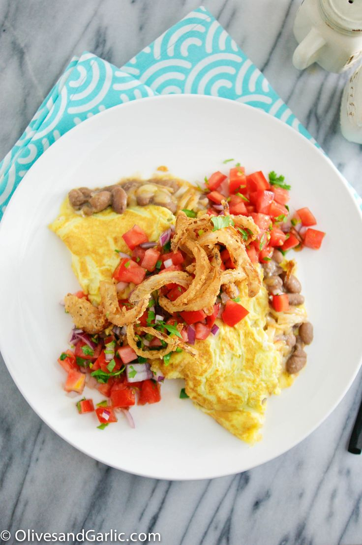 Tex-Mex Omelette with Onion Crisps