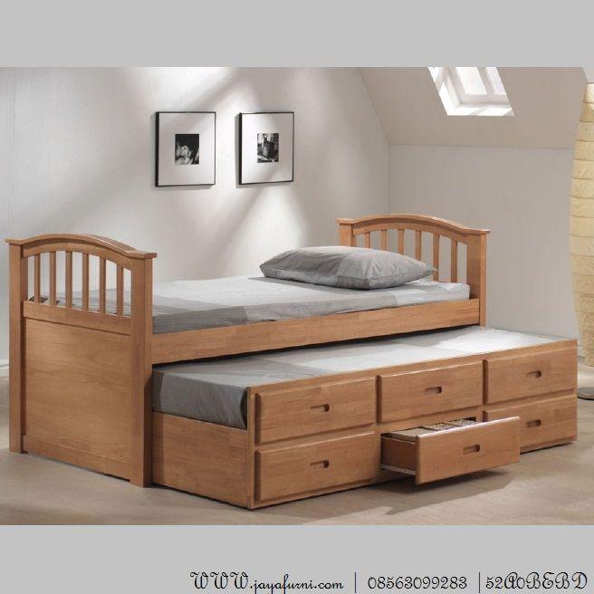Ranjang Anak Minimalis Sorong 3 Laci   Tempat tidur lipat ...