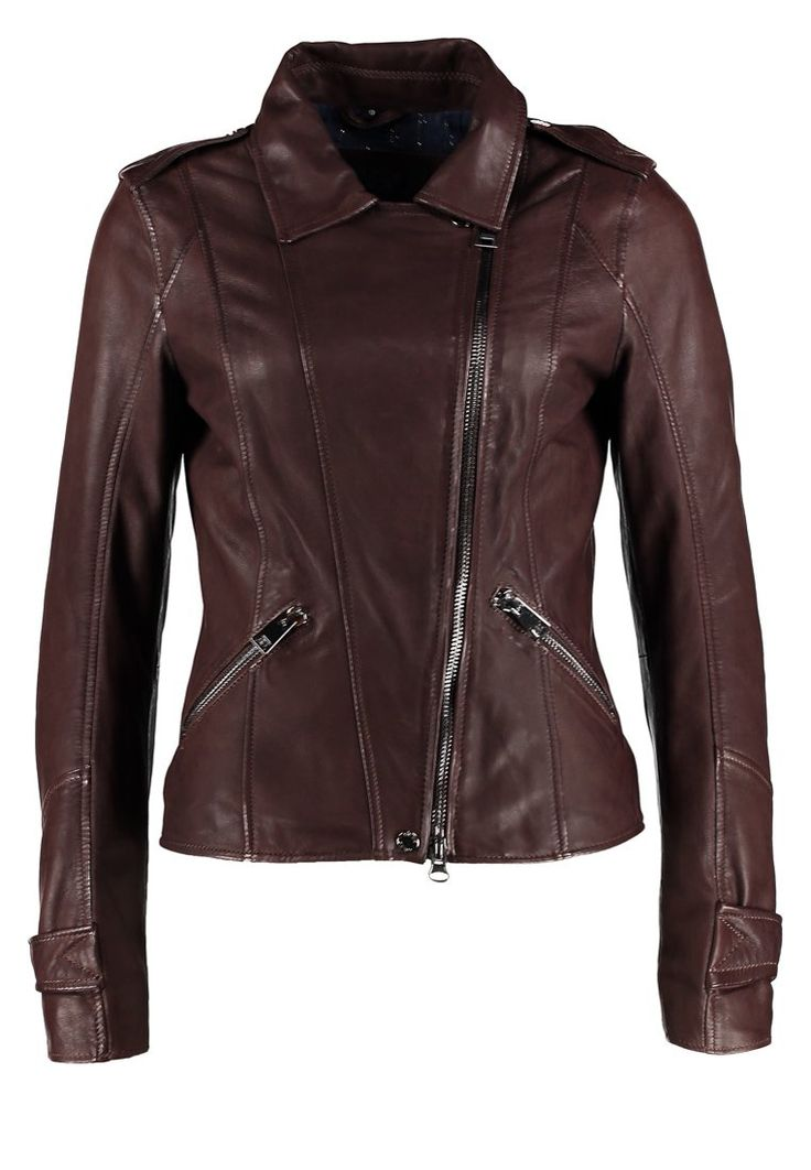 Oakwood - Lederjacke - burgundy