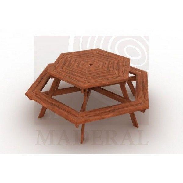 Mesa Hexagonal De Picnic   Productos El Maderal. PicnicsExteriorPicnic  TablesProducts