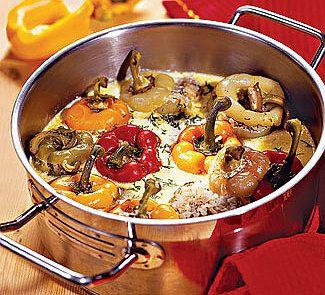Фаршированные перцы в сливочном соусе - рецепт