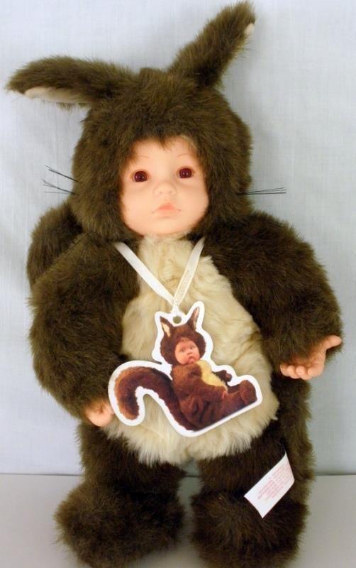 1998 Anne Geddes Baby Squirrel Doll Plush Stuffed Animal 15 Inches Tall #AnneGeddes #Dolls