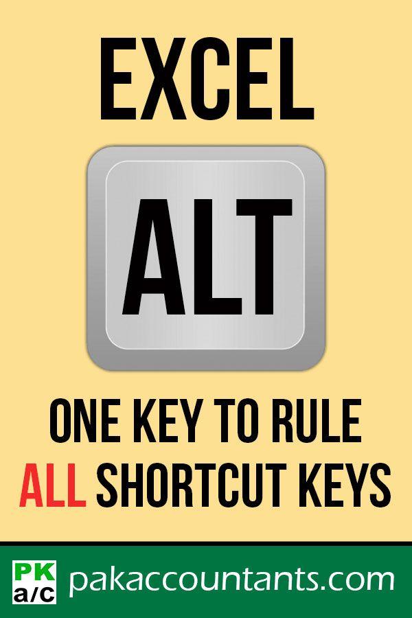 Excel ALTernate \u0027Powercut\u0027 - One key to rule ALL shortcut keys