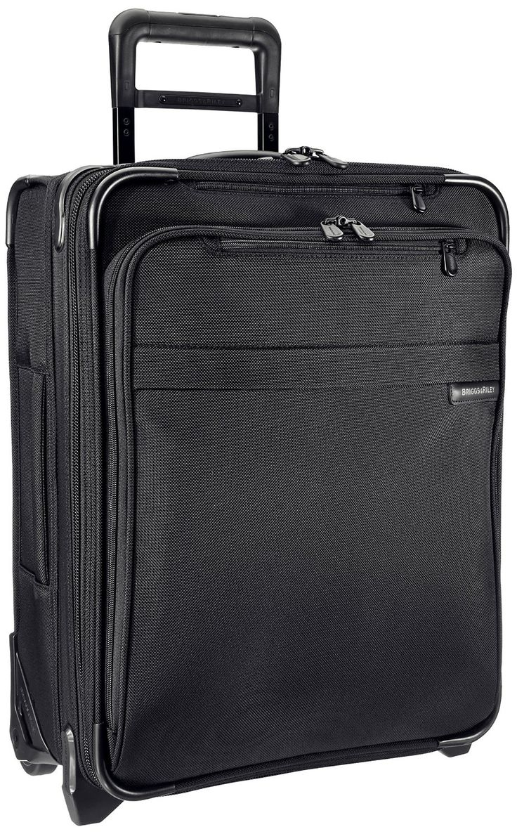 Briggs riley u121cxw 4 baseline international carry on wide upright suitcase black
