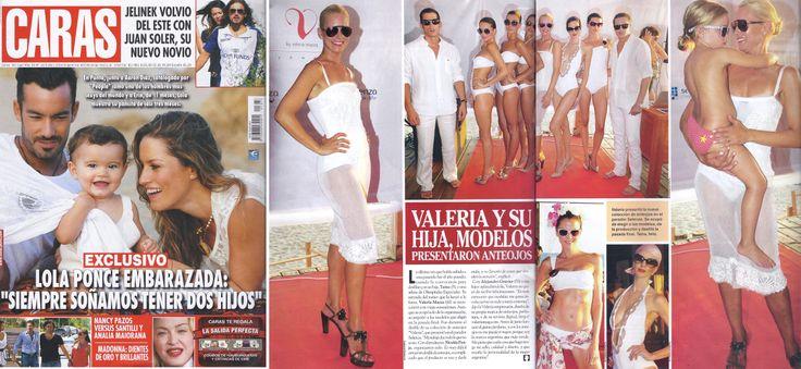 Revista Caras: Desfile Valeria Mazza Eyewear. Mes de enero.
