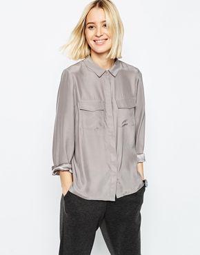 ASOS WHITE Silk Shirt