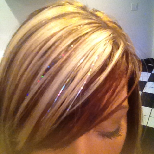 Hair Tinsel See More This One Is Pretty With Her Highlights